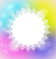 Colorful Blurred Abstract Background with Star vector image vector image