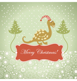 cute dragon for greeting card vector image vector image