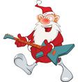 Cute Santa Claus Jazz Guitarist vector image
