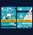 data internet security technology posters vector image vector image