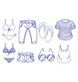 Different outfits for summer vector image