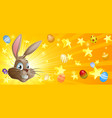 easter background vector image vector image