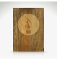 Fire flame burn on wood texture vector image vector image