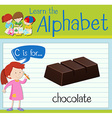 Flashcard letter C is for chocolate vector image vector image