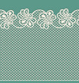 flower lace border on blue background vector image vector image