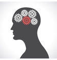 Gear head poster vector image vector image