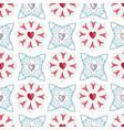 geometric damask hand drawn seamless vector image vector image