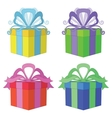 Gift box square set vector | Price: 1 Credit (USD $1)