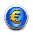 Glassy button euro vector image