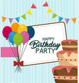 happy birthday balloons air party vector image vector image