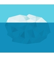 iceberg in the water vector image vector image