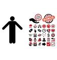 Ignorance Pose Flat Icon with Bonus vector image vector image