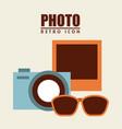 isolated retro icon vector image vector image