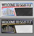 layouts for seattle vector image vector image