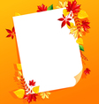 leaf white blank vector image vector image