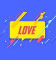 love in design banner template for web vector image vector image