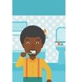 Man brushing teeth vector image vector image