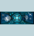 mechanical scheme hud electric field vector image vector image
