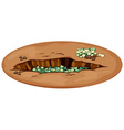 Money in the pit vector image vector image