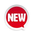 new label sticker speech bubble vector image