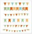 Party Flags Set vector image
