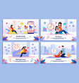 pregnant woman happy relationships banners vector image vector image