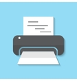 printer web icon vector image