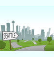 road to seattle vector image vector image
