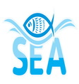 Sea icon vector image vector image