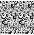 seamless calligraphic pattern with the vector image vector image