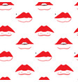 seamless pattern with different sexy female lips vector image vector image
