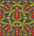seamless pattern with image branches and vector image