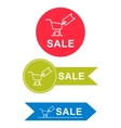 set of stickers for sale vector image vector image