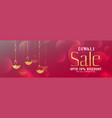 shiny diwali festival sale banner design vector image vector image