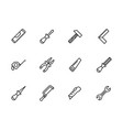 simple set work tools repair tools for locksmith vector image vector image