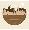 skyline of old city of Jerusalem vector image vector image