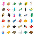 stylish clothes icons set isometric style vector image vector image