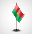 Table flag of Burkina Faso vector image