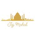 Taj Mahal golden silhouette vector image vector image