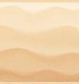 top view tropical seashore or desert dunes sand vector image vector image