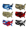 usa map camouflage vector image