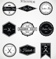 Vintage Barber Shop Labels vector image vector image