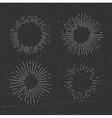 vintage sunburst vector image vector image