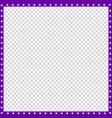 violet and white square border made animal vector image vector image