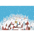 Winter in a small town vector image vector image