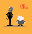 Cat Business cartoon vector image