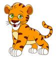 happy cartoon tiger vector image