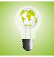 abstract eco bulb vector image
