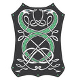 celtic knot patterns with snakes vector image