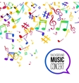 Music background Musical background with musical vector image